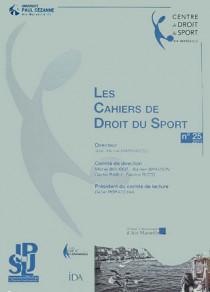 Les cahiers de droit du sport N°25