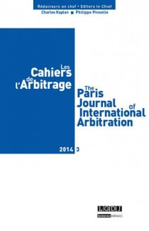Les cahiers de l'arbitrage N°3-2014