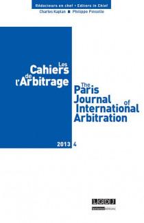 Les cahiers de l'arbitrage N°4-2013