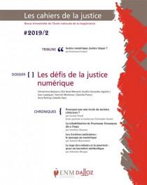 Les cahiers de la justice, 2019 N°2