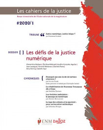Les cahiers de la justice, 2020 N°1