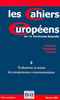 Les Cahiers européens de la Sorbonne Nouvelle, décembre 2004 N°4