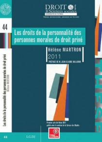 Les droits de la personnalité des personnes morales de droit privé