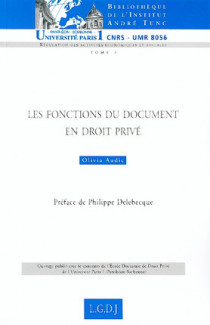 Les fonctions du document en droit privé