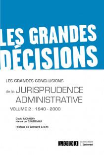 Les grandes conclusions de la jurisprudence administrative