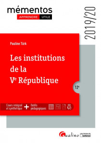 [EBOOK] Les institutions de la Ve République