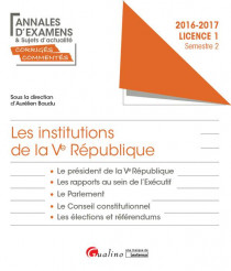 Les institutions de la Ve République L1-S2