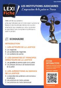 Les institutions judiciaires (fascicule)