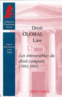 Les introuvables du droit comparé (1993 - 2003)