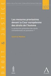 Les mesures provisoires devant la Cour européenne des droits de l'homme