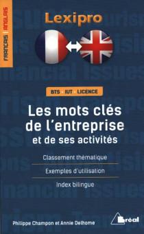 Les mots clés de l'entreprise et de ses activités français-anglais