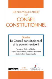 Les Nouveaux Cahiers du Conseil Constitutionnel, janvier 2016 N°50
