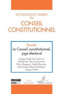 Les Nouveaux Cahiers du Conseil Constitutionnel, octobre 2013 N°41