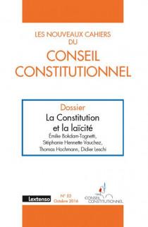 Les Nouveaux Cahiers du Conseil Constitutionnel, octobre 2016 N°53