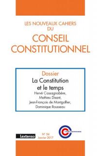 Les Nouveaux Cahiers du Conseil Constitutionnel, octobre 2016 N°54