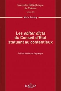Les obiter dicta du Conseil d'Etat statuant au contentieux