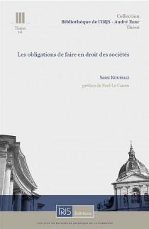Les obligations de faire en droit des sociétés