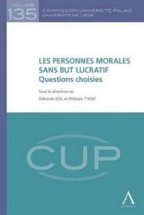 Les personnes morales sans but lucratif : questions choisies