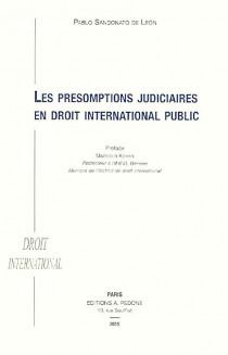 Les présomptions judiciaires en droit international public