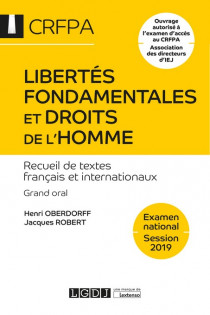 Libertés fondamentales et droits de l'homme - CRFPA - Examen national Session 2019 [EBOOK]