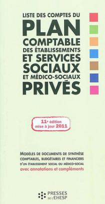 Liste des comptes du plan comptable des établissements et services sociaux sociaux et médico-sociaux privés