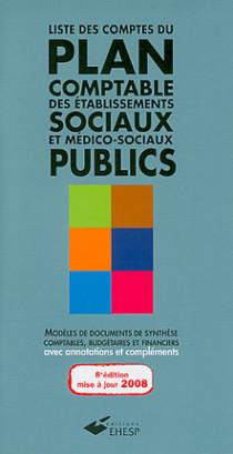Liste des comptes du plan comptable des établissements sociaux et médico-sociaux publics
