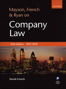 Mayson, French & Ryon on Company Law 2017-2018