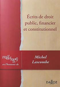 Écrits de droit public, financier et constitutionnel