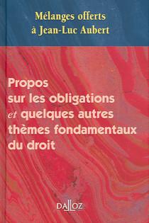 Mélanges offerts à Jean-Luc Aubert