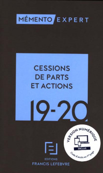 Mémento cessions de parts et actions 2019-2020