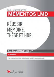 Réussir mémoire, thèse et HDR [EBOOK]