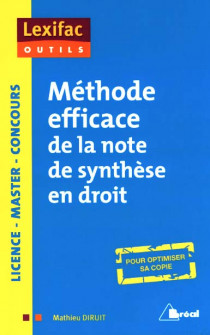 Méthode efficace de la note de synthèse en droit