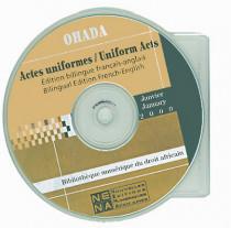 OHADA - Actes uniformes bilingues français-anglais, anglais-français (CD-Rom)