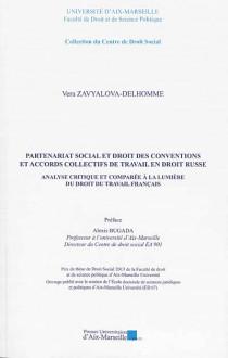 Partenariat social et droit des conventions en accords collectifs de travail en droit russe