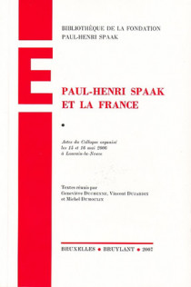 Paul-Henri Spaak et la France