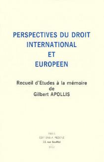Perspectives du droit international et européen