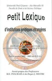 Petit lexique d'institutions juridiques étrangères