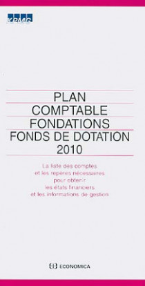 Plan comptable fondations fonds de dotation 2010
