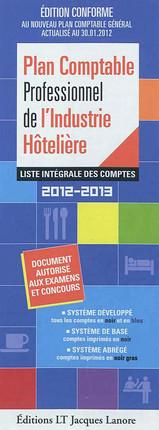 Plan comptable professionnel de l'industrie hôtelière 2012-2013 (dépliant recto-verso)