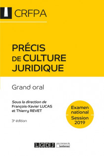 Précis de culture juridique - CRFPA - Examen national Session 2019 [EBOOK]