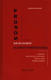 Propos sur les sources du droit international