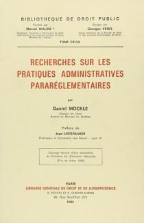 Recherches sur les pratiques administratives pararéglementaires