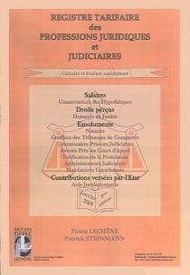 Registre tarifaire des professions juridiques et judiciaires