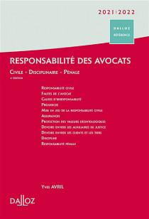 Responsabilité des avocats 2021-2022