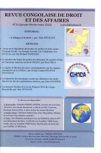 Revue congolaise de droit des affaires, janvier-mars 2016 N° 23