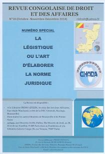 Revue congolaise de droit et des affaires, octobre-décembre 2014 N°18