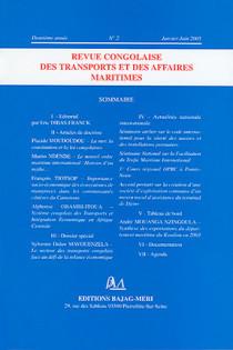 Revue congolaise des transports et des affaires maritimes, deuxième année, janvier-juin 2005 N°2