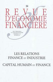 Revue d'économie financière, décembre 2011 N°104