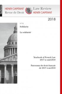 """Revue de droit Henri Capitant """"La solidarité"""""""