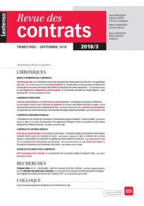 Revue des contrats N°3-2018